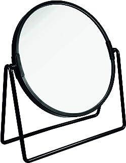 PARSA Beauty Lusterko kosmetyczne czarne, matowe, dwustronne, normalne i 3-krotne powiększenie do makijażu, fryzjerowania,...