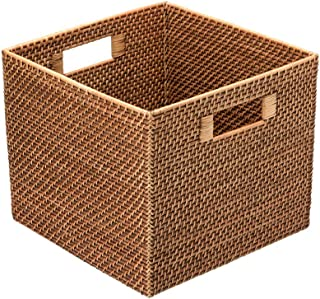 KOUBOO 1060036 Square Rattan Utility Basket, 13