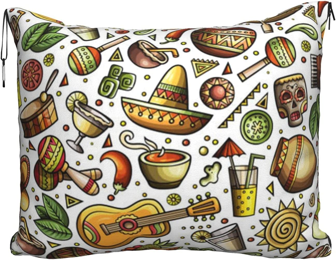 Funny Cartoon Superior Hats Guitar Printed Pillow Ve Travel Soft Max 51% OFF Blanket