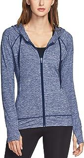 TSLA Women's Full Zip Running Track Jackets, Lightweight Athletic Workout Jackets, Active Sports Yoga Jacket