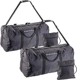 PEARL Sporttasche: 2er-Set Falt-Reisetasche aus reißfestem Polyester, 58 Liter, Tragegurt (Faltreisetasche)
