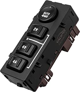 4WD Transfer Case Selector Switch 4x4 Switch Fits for 2003-2007 Chevy Silverado,Chevrolet Suburban,Avalanche,Cadillac Escalade,GMC Yukon,Sierra Replaces 15136039,19259313,901-072