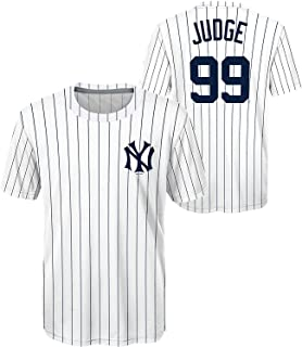 Aaron Judge New York Yankees #99 Cooperstown Collection Polyester Youth Home Jersey T-Shirt