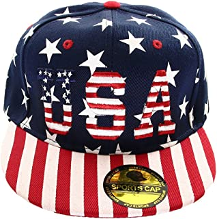 USA American Flag Printed Baseball Cap Snapback Adjustable Size
