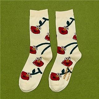 Calcetines Unisex con Estampado De Frutas Calcetines De Skate De Algodón Fresco Calcetines Duraderos para Hombres De Moda Hipster Un Paquete De 3 Pares