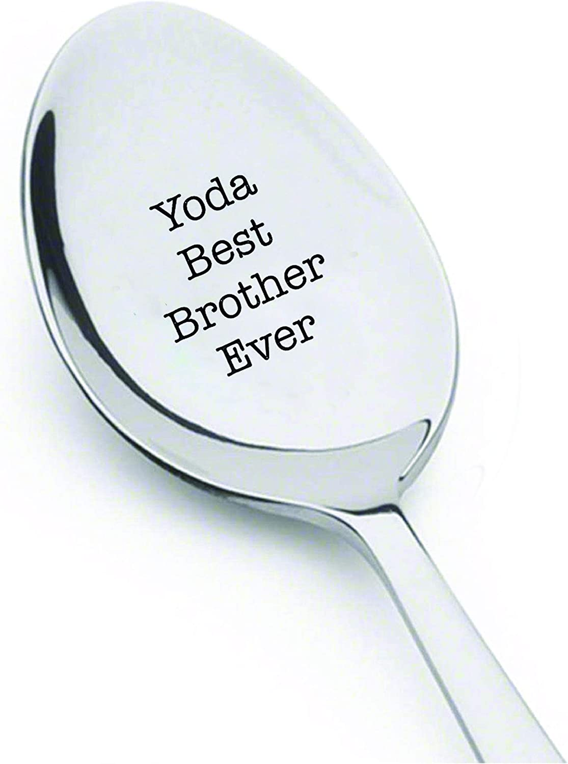 Yoda Best brother Ever - spoon service Engraved gift Birthday Brother Department store