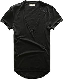 Zecmos Mens Deep V Neck T-Shirt Unisex Tshirt Male Vneck Tee Top