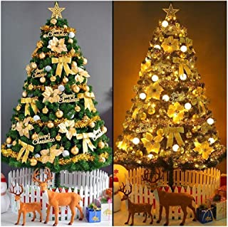 Christmas Trees Pre-lit Optical Fiber Xmastree in Led Lights Ornaments, Eco-Friendly PVC Flame Retardant, Easy Assembly-Green (Size : 9.8Ft(300CM))