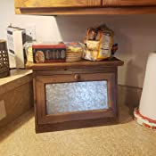 Countertop Bread Storage Bin Large Bread Box for Kitchen Counter with Transparent Window Self Assembly INDRESSME 2-Layer Bamboo Bread Box 15.8x 12x 6.8