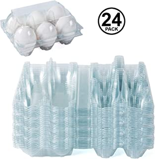 Clear Plastic Premium Eco-Friendly Egg Carton - Holds 6 Eggs Securely