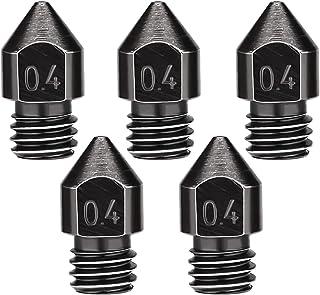 LUTER 5PCS 0,4mm/1,75mm extruderspuitmonden, hittebestendige 3D-printermondstukken voor MK8 met opbergdoos, compatibel met...