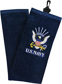 Hot-Z Golf US Military Navy Tri-Fold Towel