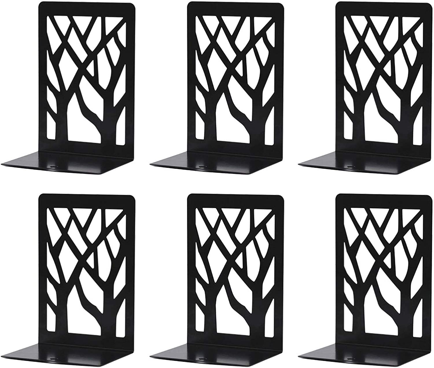 Black Metal Book Ends Rapid rise Heavy Bookends Tree Duty Shadow Special price for a limited time