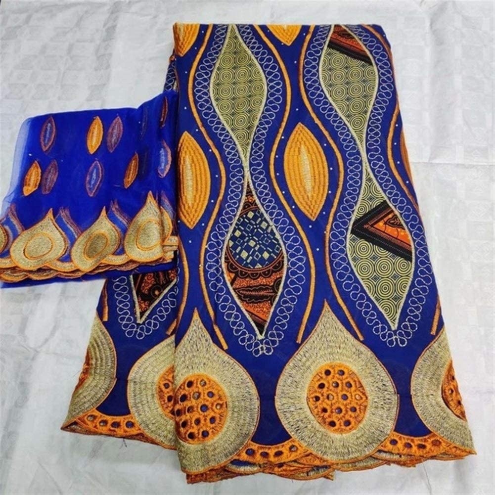ZEFS--ESD Sale special price Fabric half African Wax Prints Voile Swiss Lace with