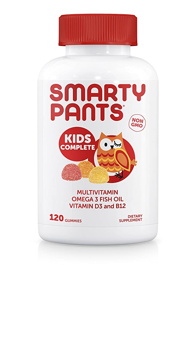 判読できない一掃する蘇生するSmartyPants Gummy Vitamins SmartyPants子供完全グミビタミン:マルチビタミン&オメガ3魚油(DHA/EPA脂肪酸)、ビタミンD3、メチルB12、120 COUNT、30日間SUPPLY