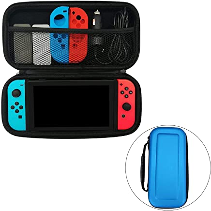 Flyme Portable Travel Carry Case Bag Shell Pouch for Nintendo Switch, Blue