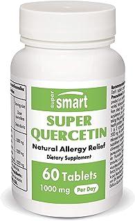 Supersmart - Super Quercetin 1000 mg Per Serving - Natural Allergy Relief - Anti Inflammatory & Antioxidant Supplement - S...