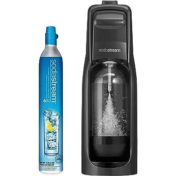 SodaStream Jet Sparkling Water Maker, Kit w/60l Cylinder, Black