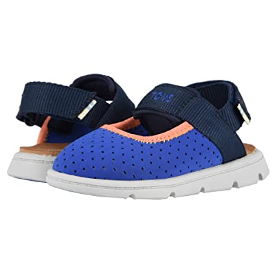 e7d6a54f TOMS Kids Caity (Toddler/Little Kid) (Navy Nylon Perforated) Girls Shoes