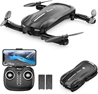 Drone with Camera for Adults, Potensic D18, 1080P Live Video FPV WiFi Drone, Foldable Portable Quadcopter with Double Batteries, 16-20 Min, Optical Flow, Anti-Collision RC Drone for Beginner and Kids