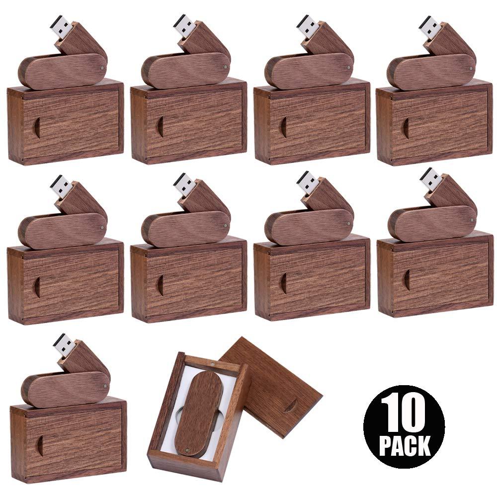 E.T. INSIDE 32GB Memorias USB Madera 10 Pack Pendrive con Caja de Regalo de Madera USB Personalizado para los Negocios: Amazon.es: Electrónica