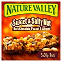 Nature Valley Sweet and Salty Nut Dark Chocolate, Peanut & Almond Cereal Bars 30g (Pack of 5 bars)
