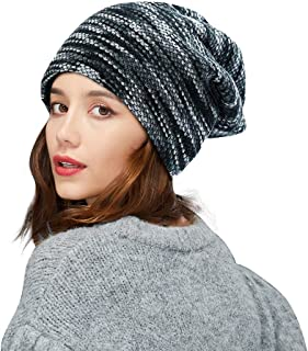 ZIQIAN Men Women Slouchy Thick Beanie Warm Knitted Hat Ladies Winter Loose Knit Ski Cap