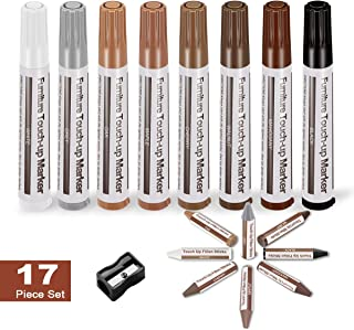 Argomax Floor and Furniture Markers Touch Up Repair System Kit Cover Wood Scratch Touch Up Filler Restorer of Wooden Table, Door, Cabinet, Veneer Maple Used for Any Wood (8 Color)