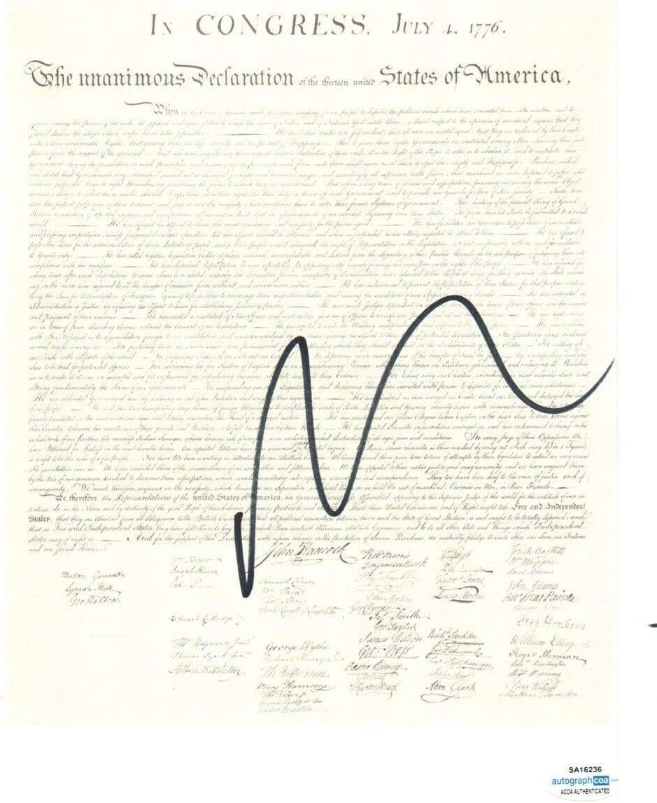 Nicolas Cage Signed DECLARATION OF INDEPENDENCE Jacksonville Mall Treasur National Bombing new work