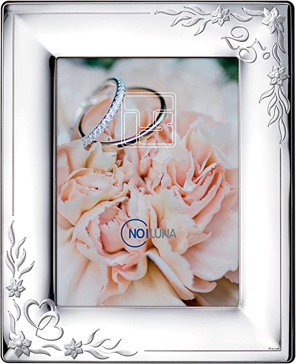 Cornice portafoto in argento 18x24 - anniversario 25 anni di matrimonio, nozze d`argento noiluna B088BJLJX1