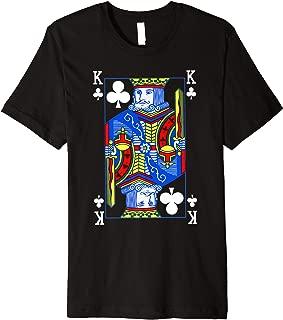 King of Clubs Shirt| Funny Halloween Costume Tee| Poker  Premium T-Shirt