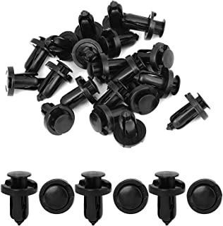 uxcell 20 Pcs 10mm Hole Retainer Clips Plastic Drive Rivets Mud Flaps Bumper Fender Push Clips for Honda Acura