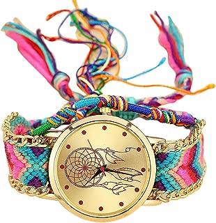 Handmade Ladies Vintage Women's Mechanical Skeleton Transparent Style Wrist Watch (A)