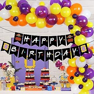 مجموعة بالون غارلاند بتصميم فريندز زينة لحفلات أعياد الميلاد لعشاق برامج التلفزيون بانر عيد ميلاد سعيد