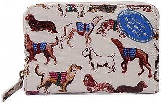 [キャスキッドソン] 財布 二つ折り Cath Kidston ポケットパース 784863 OYSTER SHELL Mini Sketchbook Dogs [並行輸入品]