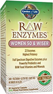 Garden of Life Vegetarian Digestive Supplement for Women – Raw Enzymes for..