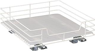 Household Essentials 1516-1 Glidez Undersink Sliding Organizer | Pull Out Cabinet Shelf | White 15-Inch