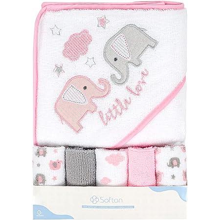 Asciugamano e salviette da bagno con cappuccio per bambini tocco morbido e forte assorbimento confezione da 6 ottimo regalo per neonati e neonati