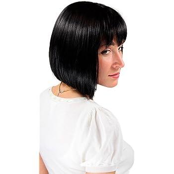 30cm Adulto Donna Smiffys Costume Costume NERO Classica Lola Parrucca 12 pollici