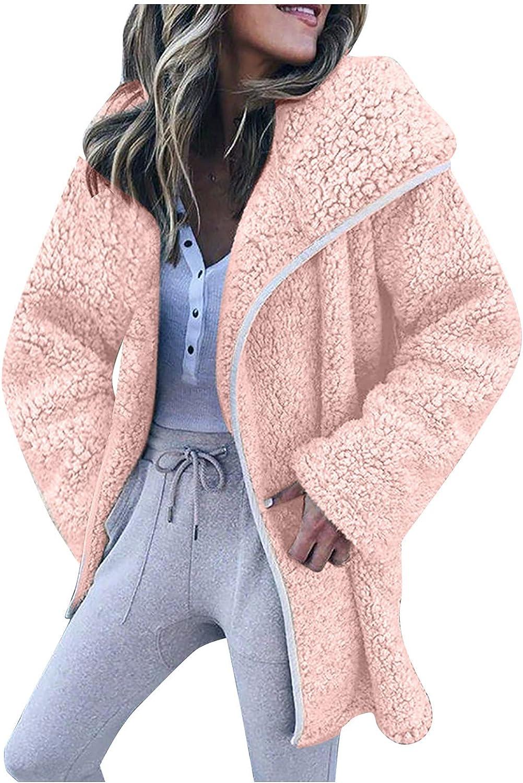 Fashion Womens Long Sleeve Outerwear Warm Faux Coat Jacket Winter Zipper Solid Coat