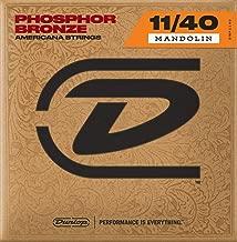 Dunlop DMP1140 Mandolin Strings, Phosphor Bronze, Medium, .010–.040, 4 Strings/Set