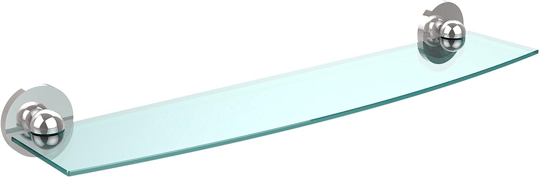 Allied Brass 1033 24-PC 24-Inch Beveled 1 4-Inch Glass Shelf Polished Chrome
