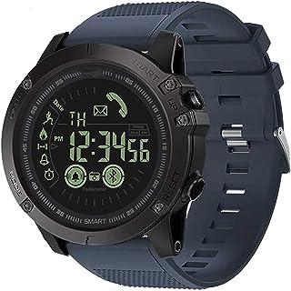 JessFash Reloj Inteligente a Prueba de Agua Contador de Pasos de calorías Deporte Bluetooth Deporte Militar Reloj Inteligente Actividad Rastreador de Ejercicios Monitor de sueño y Ritmo cardíaco