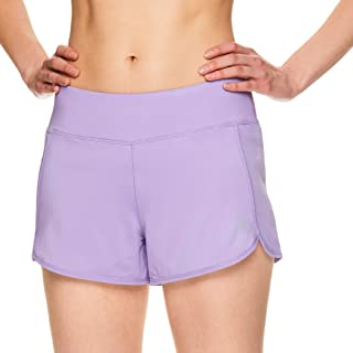 Women's Running Shorts, Relaxed Fit and Mid-Rise Waist Training Shorts w/ Liner - 3 1/4 Inch Inseam