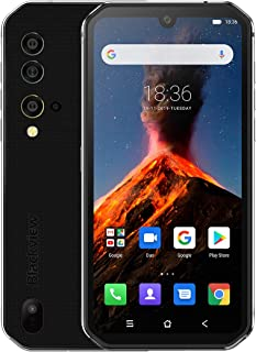 "Blackview BV9900 Rugged Cell Phones Unlocked, IP68 Waterproof Smartphone, Helio P90 Octa-core 8GB+256GB ROM, 48MP Four Rear Camera, 5.84"" FHD+ Screen Android 9.0 4380mAh Dual 4G Rugged Phone (Silver)"