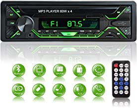 Aigoss Car Stereo with Bluetooth - Single Din Radio FM Media with File Reading,USB/TF/SD/AUX Audio Receiver,HandsFree Calling with Wireless Control and Multi Color Illumination