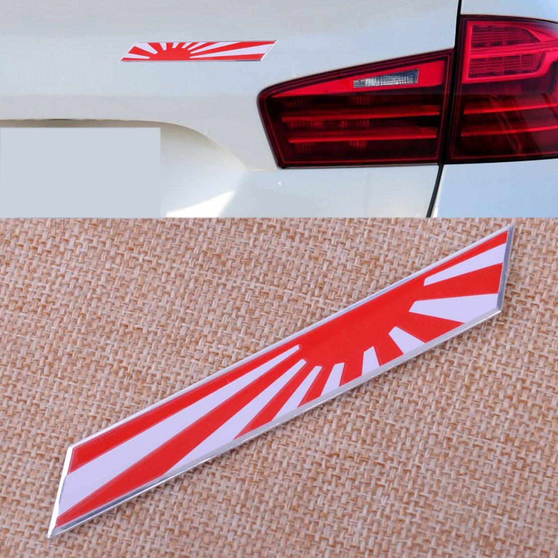 Aluminum Plate Italian Flag Emblem Badge For Car Front Grille Side Fender Trunk