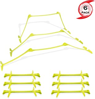 URAKN SPORTS Agility Speed Hurdles All in One, Set of Six, 3 in 1 Adjustable Heights 6