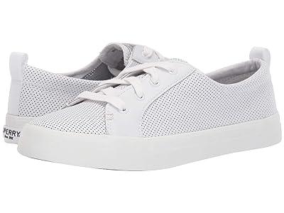 Sperry Crest Vibe Mini Perf (White) Women