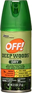 Off! Deep Woods Dry Aerosol Insect Repellant, 2.5 Ounce (2 Count)